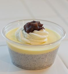 Black Sesame Pudding  (Kuro Goma Purin), a Japanese dessert from http://www.lafujimama.com/2012/03/black-sesame-pudding/#