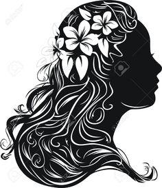 Victorian Silhouette Woman Head