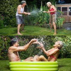 simply gardening on a spring day then .one thing leads to another. Grow Old With Me, Growing Old Together, The Wedding Singer, Never Too Old, Friendship Love, Young At Heart, Aging Gracefully, Happy Smile, Forever Young