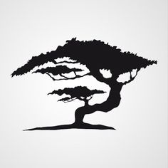 Afrikaanse Boom 1 Large Wall Stencil, Tree Stencil, Stencil Art, Stencils, Stencil Patterns, Stencil Designs, Stencil Templates, Silhouette Images, Silhouette Vector