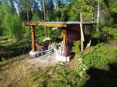 #Gapahuk#. Gapahuken på hytta.