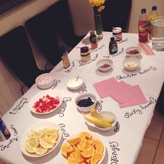 My pancake bar! Pancake parties are fun. #PancakeDay #PancakeParty