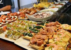 Spain: Tapas |  In Spain, it's typical to get free tapas with your drinks at a bar — and good thing, because you'll probably be out until 5 a.m. drinking anyway. No rest for the wicked; best eat while you drink. Of course, there is one other traditional drunk food in Spain; It's called lunch