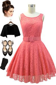Brand new in store at Le Bomb Shop! Find it here: http://www.ebay.com/itm/50s-Style-CORAL-Belted-PINUP-Ballerina-Party-Dress-Illusion-Top-Detail-/121093397344?pt=US_CSA_WC_Dresses==item61d1d9fdf6