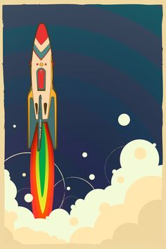 vintage toy- launching rocket  by ~canonto