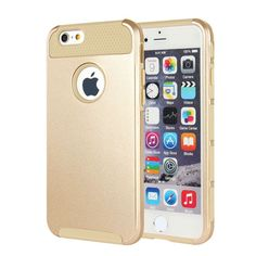 For Gold iPhone 6S Case Hybrid Shockproof Hard Heavy Duty Rubber iPhone 6 Cover #MTRONX
