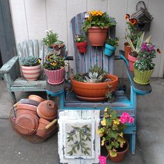 What can be done with an old Adirondack chair in the garden - Photo by nighner