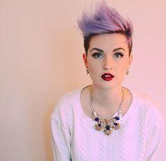 Sometimes I wonder why it took me 22 years to cut my hair off & dye it purple. Thanks @brianhickman1 for being so darn good at cutting hair. #pixie #shorthair #purplehair #lilachair #lavenderhair #redlips #makeup #hashtagpixiecuts #kurzehaare #dyedgirls #modernsalon #nothingbutpixies #megabits @nothingbutpixies #haircut #dyeddollies #dyedhair