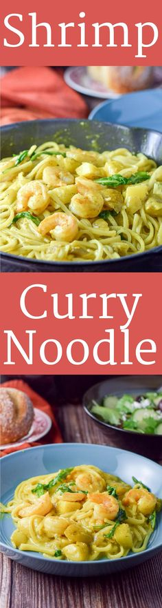 Sensational Shrimp Curry Noodle has such a lovely taste. It is so flavorful and delicious that you could eat it without the noodles but would you want to? https://ddel.co/shrcuno via @dishesdelish