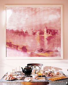 "See the ""Pink"" in our Our Favorite Colors gallery-the painting,combination of the pinks and a pop of orange?not thought of,blush/pink upper landing sofa set current house"