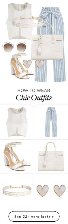"""""""Untitled #25"""" by toofiii on Polyvore featuring Frame Denim, Schutz, Yves Saint Laurent, Humble Chic, New Look and Gucci"""