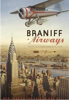 Braniff Airways - New York to the Gulf in One Day