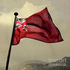 Flag of the Red Ensign - photograph by Linsey Williams  #flags #redensign #merchantnavy via @lin_dies