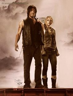 Daryl and Beth Walking Dead Tv Series, The Walking Dead Tv, Walkinh Dead, Daryl Beth, Beth Greene, Bughead Riverdale, Emily Kinney, Dead Inside, Hot Actors