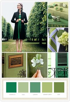 my inspiration board for st pattys day