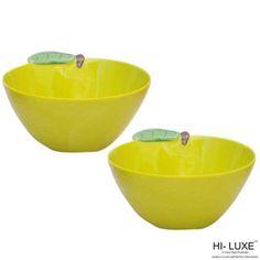 Hi-Luxe Snack Bowls: Buy Hi Luxe Orange Snack Bowl Set Of 2 Pcs, Green Online | Oyekitchen.com