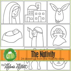 This is a fun step by step printable book for your children to learn how to draw pictures from the NATIVITY story. Each drawing shows 4