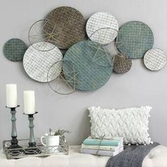 Woven Texture Metal Plate Wall Decor in 2019 Plate Wall Decor, Wall Decor Set, Modern Wall Decor, Metal Wall Decor, Plates On Wall, Diy Wall Decorations, Easy Wall Decor, Creative Wall Decor, Metal Wall Art