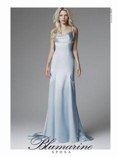 Vestito da sposa azzurro di Blumarine