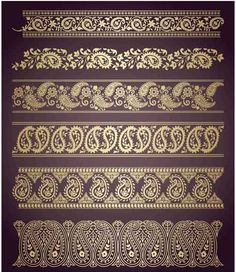 floral pattern borders - Google Search