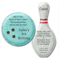 Kids bowling party invitation this second image is of the bowling party invitations google search filmwisefo
