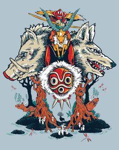 The Wolf Princess T-Shirt $10 Princess Mononoke tee at ShirtPunch today only!