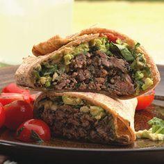 Kids Dinner Recipes - Healthy Dinner Recipes for Kids - Delish.com#slide-5  Southwest Beef and Bean Burger wraps