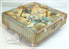 Altered Cigar Box....Shabby Chic Style!