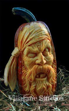 pirate pumpkin...Awesome!