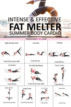 ⭐️ How to Melt Fat? Summer Cardio Workout for Women! Intense and Effective… ⭐️ How to Melt Fat? Summer Cardio Workout for Women! Intense and Effective…,Fitness ⭐️ How to Melt Fat? Body Fitness, Physical Fitness, Health Fitness, Fitness Diet, Workout Fitness, Enjoy Fitness, Workout Diet, Fitness Style, Fitness Fashion