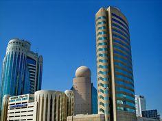 Dubai buildings by chothia, via Dubai Buildings, Sharjah, Willis Tower, Uae, Entertaining, Pictures, Office Ideas, Design Design, Towers