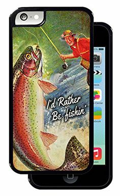 Vintage I'd Rather Be Fishin' Rainbow Trout - Black iPhone 5C Protective Rubber Cover Inked Cases http://www.amazon.com/dp/B00L9IR7OE/ref=cm_sw_r_pi_dp_CqVQtb0M5E547E1H