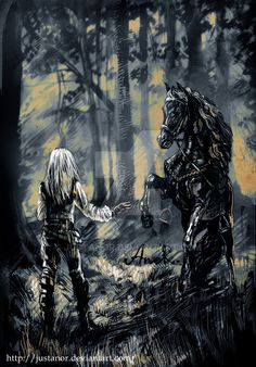 Ciri and Kelpie by JustAnoR on DeviantArt