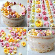 Peču na Vás: Dort s mascarpone a sněhovými pusinkami Big Cakes, Pavlova, Vanilla Cake, Cheesecake, Pudding, Sweets, Baking, Desserts, Food