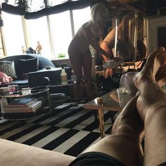 """Pin for Later: Lady Gaga and Taylor Kinney Had a Mini Photo Shoot Over the Weekend """"Shining up the glass sparkly and pretty, listening to Jazz, why a beautiful morning. Lauren Goodger, Glass Bell Jar, Lady Gaga Pictures, Rae Sremmurd, Taylor Kinney, Taylor Swift, Instagram Snap, Old Singers, Lil Wayne"""