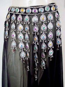 medieval tribal gypsy clothing   Kuchi Belt Belly Dance Hip Skirt Jewelry Tribal Boho NW   eBay