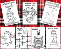 PERSONALIZED PARTY FAVOR COLORING BOOK ITEM DESCRIPTION: This listing is for a Lumberjack themed Personalized Party Favor Coloring Book