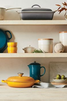 Explore Le Creuset color palettes and color pairing ideas, featuring Deep Teal. Le Creuset Colors, Color Pairing, Home Comforts, Deep Teal, Bridal Shower Gifts, Color Pallets, Kitchen Inspiration, Kitchen Dining, Kitchens