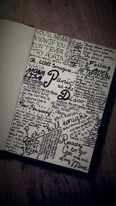 Panic at the Disco lyric art, I really want to do something like this!