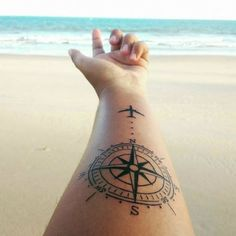 wanderlust tattoo Wanderers are constantly collecting passport stamps, soul-stirring stories and often, stunning wanderlust tattoos. Here are 46 wanderlust tattoos: Vine Tattoos, Irish Tattoos, Old Tattoos, Trendy Tattoos, Tattoos For Women, Tattoo Women, Stylish Tattoo, Celtic Tattoos, Henna Tattoos