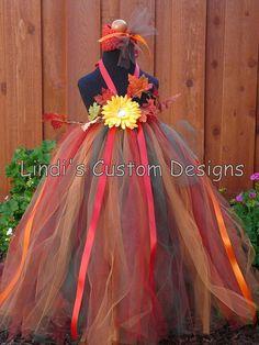 Autumn, Fall, Thanksgiving Leaf Tutu Dress. Would make a cute flower girls dress for a fall wedding.