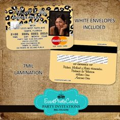 1000 Images About Credit Card Invitations On Pinterest