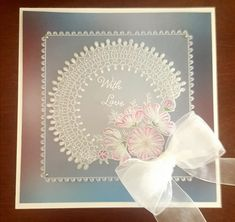 Parchment Cards, Arts And Crafts, Diy Crafts, Flower Plates, Celtic Designs, Lace Flowers, Paper Cards, Cute Cards, Projects To Try