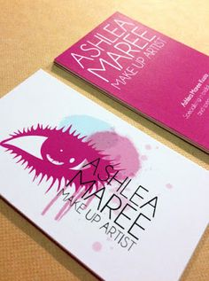 Ashlea Maree Make Up Artist business card design
