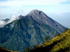 MERAPI-is a mountain located in Yogyakarta and Central Java . is famous for its beautiful mountain peak that is very clear and active . have a legend like fuji mountain in Japan , and it was the most active mountain in the world . but the beauty cover all the mythical stories in it .