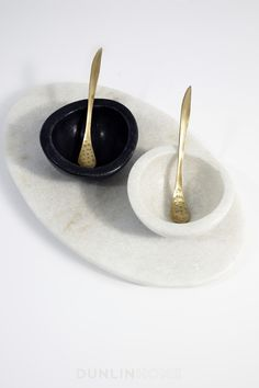 Chelsea Marble Salt and Pepper Bowls