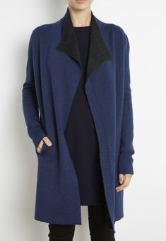 INHABIT - Double Faced Two Tone Wool Coat