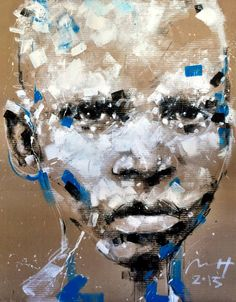 "Saatchi Art Artist Mário Henrique's portrait painting ""Albino boy"" 