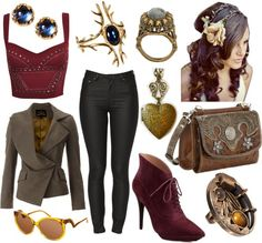 """""Theadora"" from Oz the Great and Powerful inspired day outfit"" by marena-boyer on Polyvore"