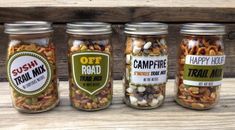 **4 DIY TRAIL MIX GIFTS IN A JAR WITH FREE PRINTABLE LABELS